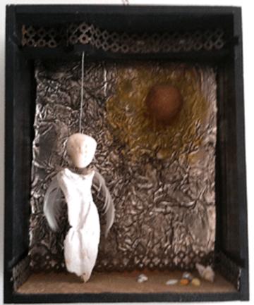 Ange et soleil - Angel e solelh - h. 32,5 cm