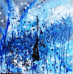 Bleu - Blau - h. 41 cm