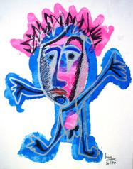 Encres surcarton toilé - Tintas sus carta - h. 46 cm