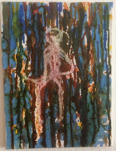 Sous la douche - Sota la docha - h. 40 cm