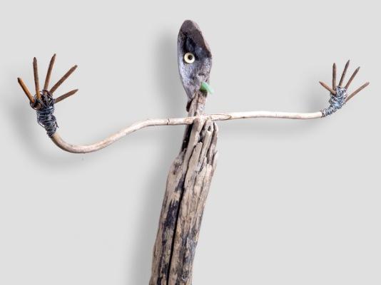 Le borgne (détail) - Lo bòrni (detalh) - h. tot. 140 cm