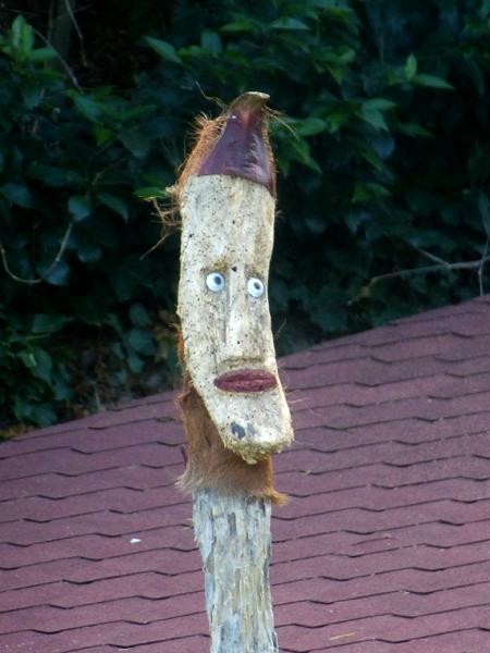 Grand totem-tête
