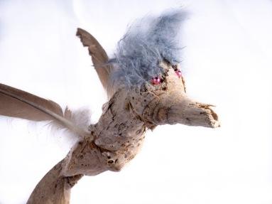 Oiseau bleu-tête