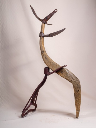 Reine des chèvres (pièce de bois et métal) - Reina dals cabras (pèça se fust e metau) - h. 120 cm