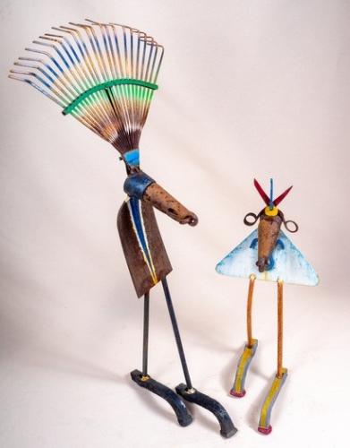 Roi et reine - Rei e reina - h. 94 cm, 60 cm