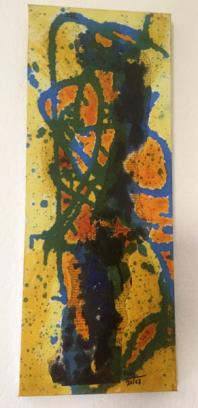 Sans titre jaune - Sensa titol jaune - h. 51 cm